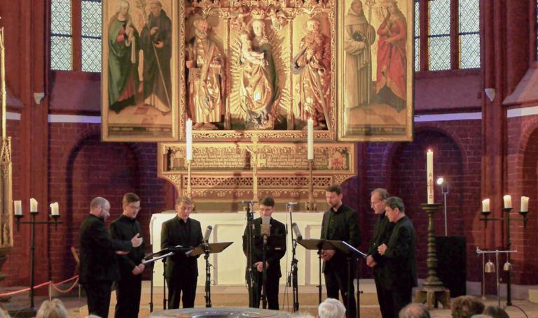 Konzert mit dem Ensemble Virga Strata Berlin im Mai 2018 im Brandenburger Dom
